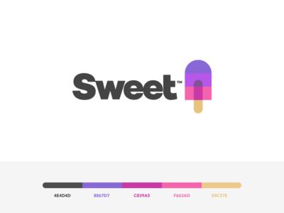 Sweet - Branding xrp ripple bitcoin blockchain crypto sweet ice cream popsicle mark identity branding logo