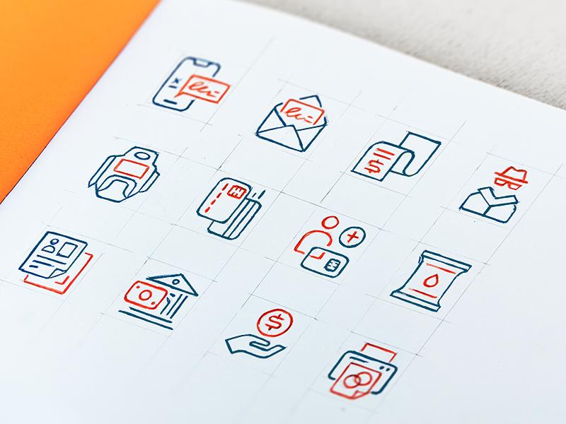 PayJunction - Icon Set logo identity branding mark icon drawing vector illustration icons