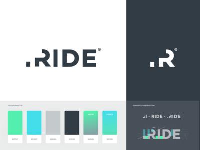Ride - Branding charts bars progress banners business card logo identity branding