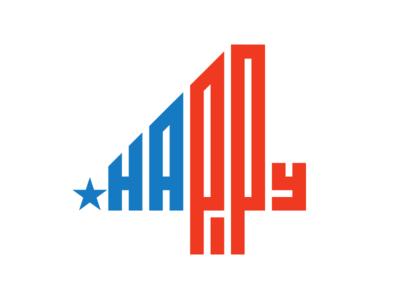 Happy 4th 4th july logo states united america usa star mark illustration icon