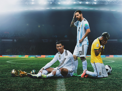 Game Over football futball soccer jr neymar ronaldo messi russia 2018 cup world fifa