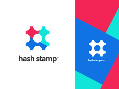 HashStamp.com palette icon stamp hash mark identity branding logo