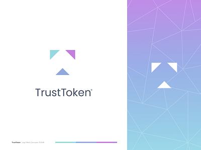 TrustToken xrp bitcoin blockchain crypto logo identity branding mark icon drawing illustration icons