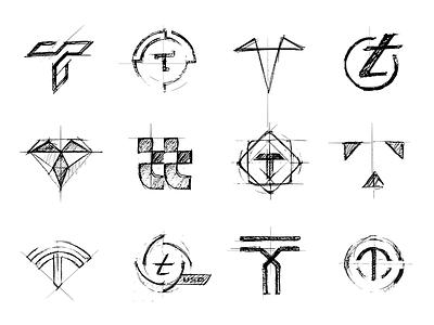 TrustToken - Sketches blockchain bitcoin xrp crypto coin identity branding mark logo icon