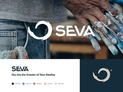 Seva - Branding brush geometry fibonacci branding identity mark creator seva logo