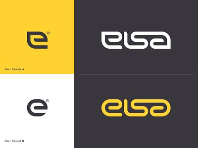 Elsa - A or B type app letter mark logo identity branding testing