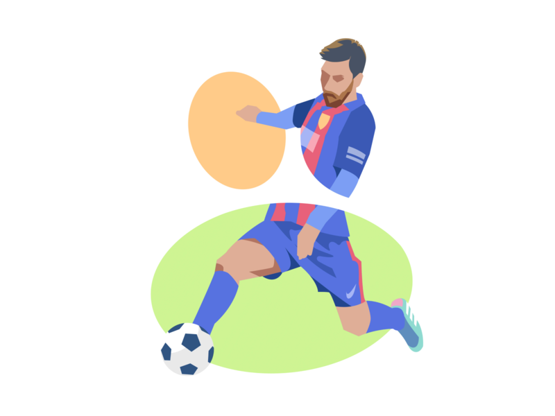 Messi 👐 website icon drawing illustration sport football kick game soccer messi