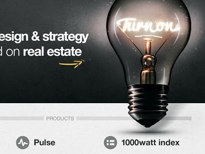 turn on website ui icon light bulb real estate app web ux site glow dark grunge background pulse index