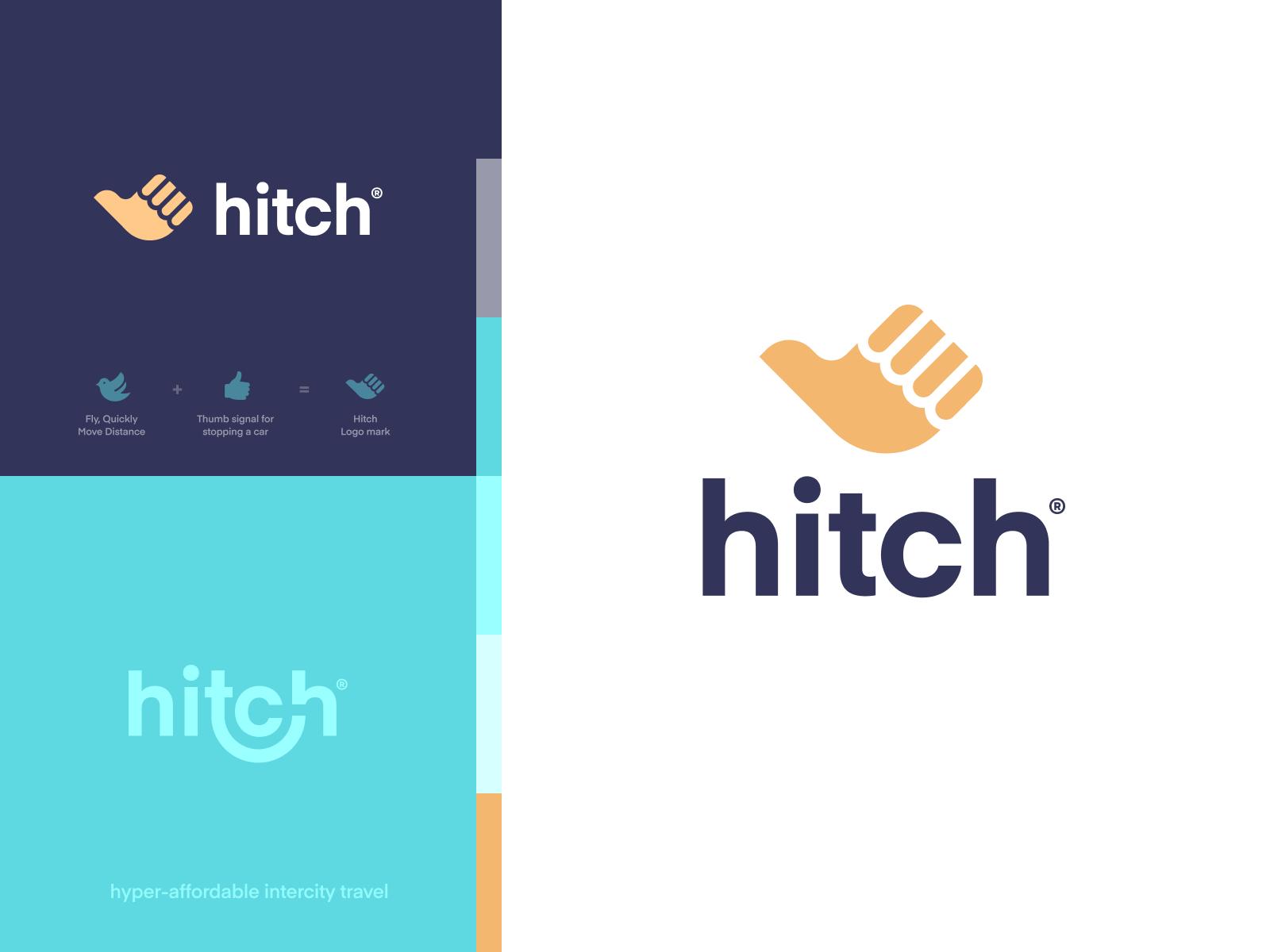 Hitch - Logo design website mark ios iphone identity branding app logo illustration icon