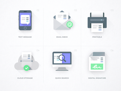 PayJunction - Mini Illustrations phone printer branding vector ui design icon app illustration
