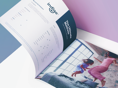 Indigo - Brand Book mattress design mark identity branding logo