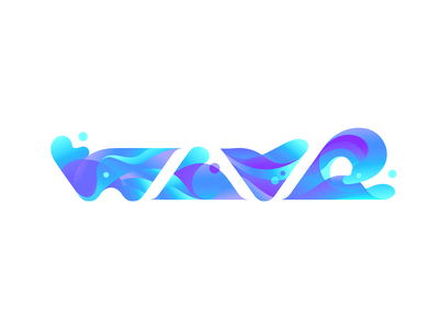 wave letters type logo illustration wave