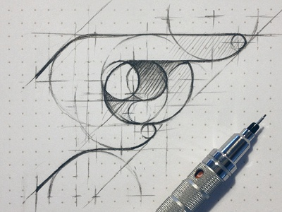 poke poke icon logo geometry sketch draft rough facebook hand pencil paper