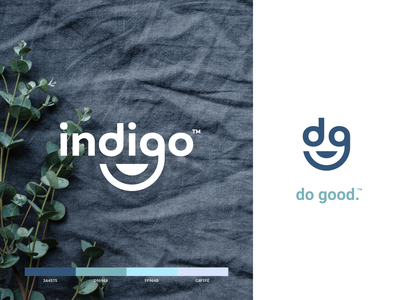 indigo - do good website mark iphone identity branding app logo icon