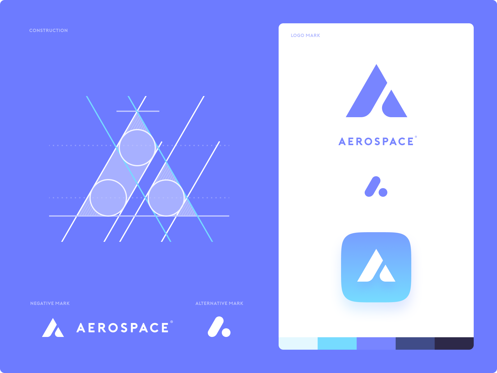 Aerospace - Logo Construction ios apple design mark iphone identity branding app illustration logo icon