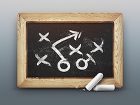 strategy icon chalk board x ios iphone website wood patter