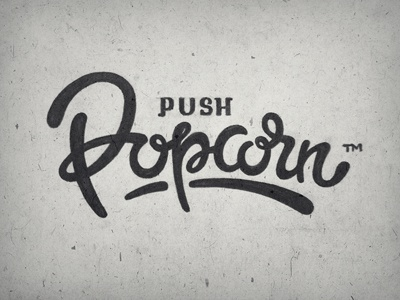 popcorn step two sketch lettering typography calligraphy font popcorn push tea script hand written pencil marker rough draft