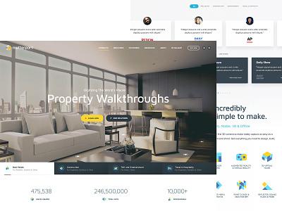 Matterport illustration card home virtual vr house icons ui  ux website builder website