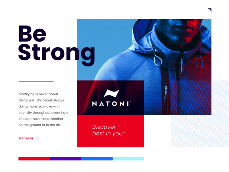 Natoni landing athlete sport typography ux website identity branding app logo icon
