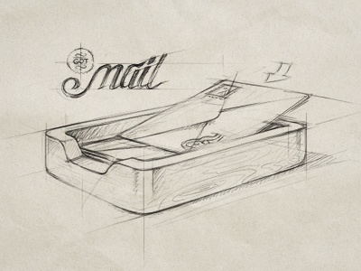 contact mail contact icon ios iphone apple wood envelope sketch drawing rough pencil pen