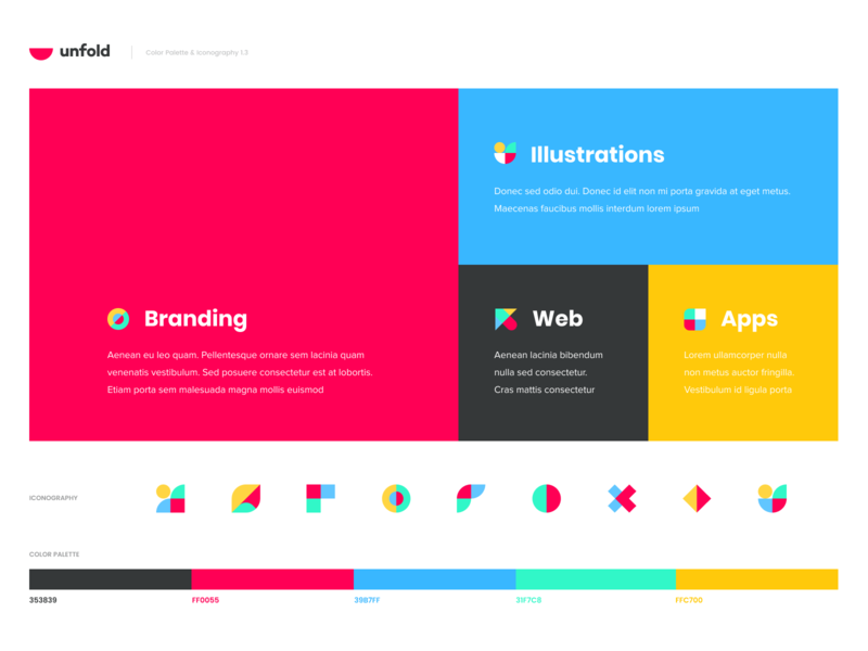 Unfold - Branding Exploration unfold web site ui design identity branding illustration logo icon