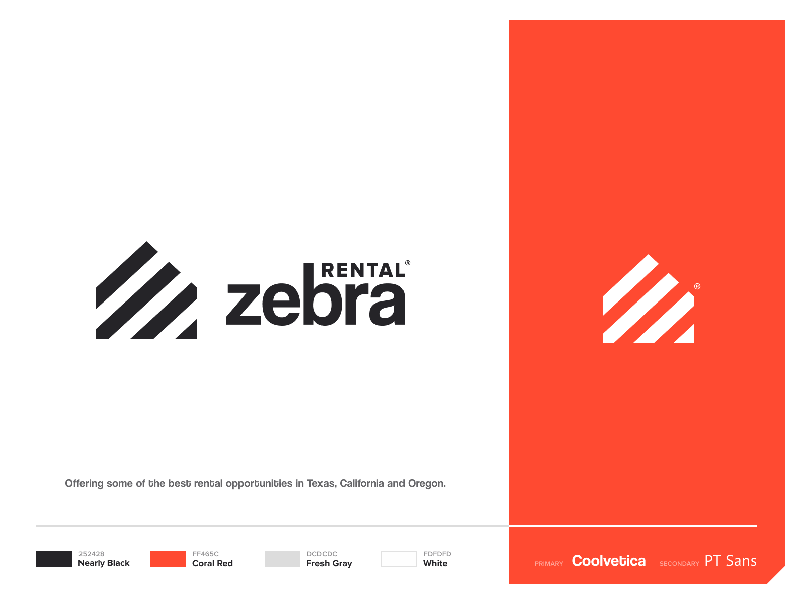 Rental  🦓 rent estate real mark icon brand identity house zebra logo branding