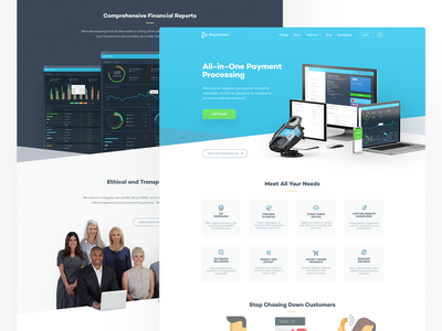 PayJunction - Launched! page landing web website iphone payment figma identity branding