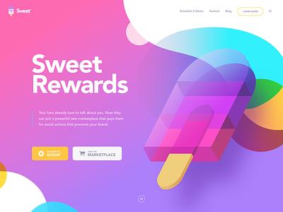 Sweet 🍭 branding landing website