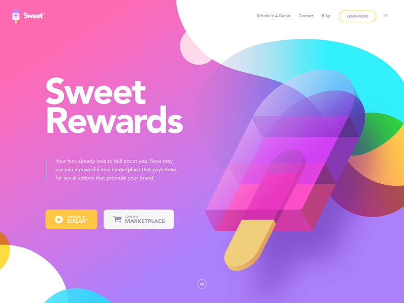 Sweet 🍭 branding landing website