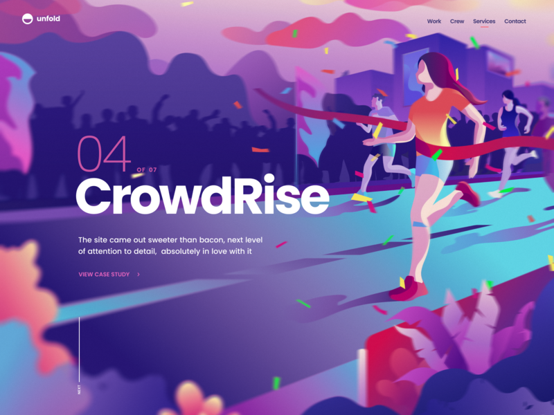 CrowdRise - Case Study gofundme speed case crowdrise runner web page landing website