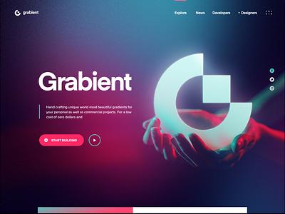 Grabient 2.0 web 2.0 barnding logo gradient landing site web website