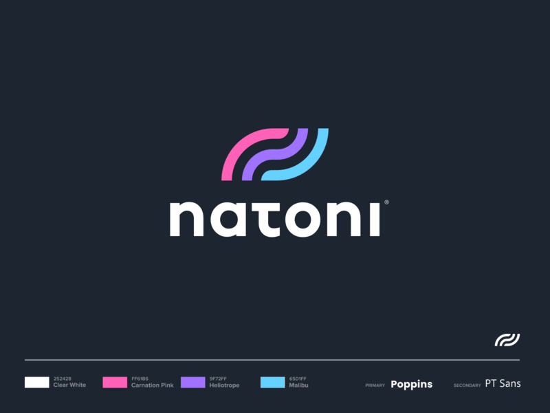 Natoni - Logo vector drawing mark website iphone branding illustration logo icon