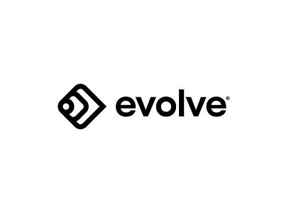evolve typography design mark identity app branding icon illustration logo