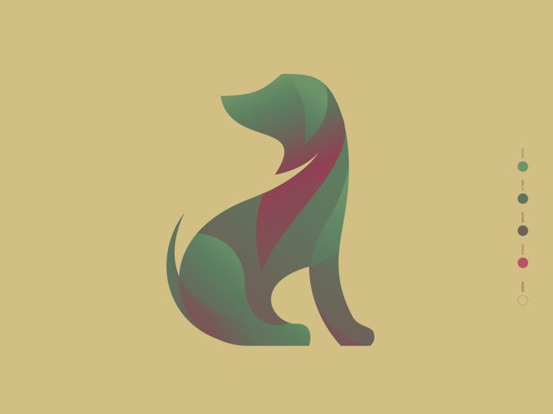 🐶 icon logo mascot branding figma vector drawing illustration dog