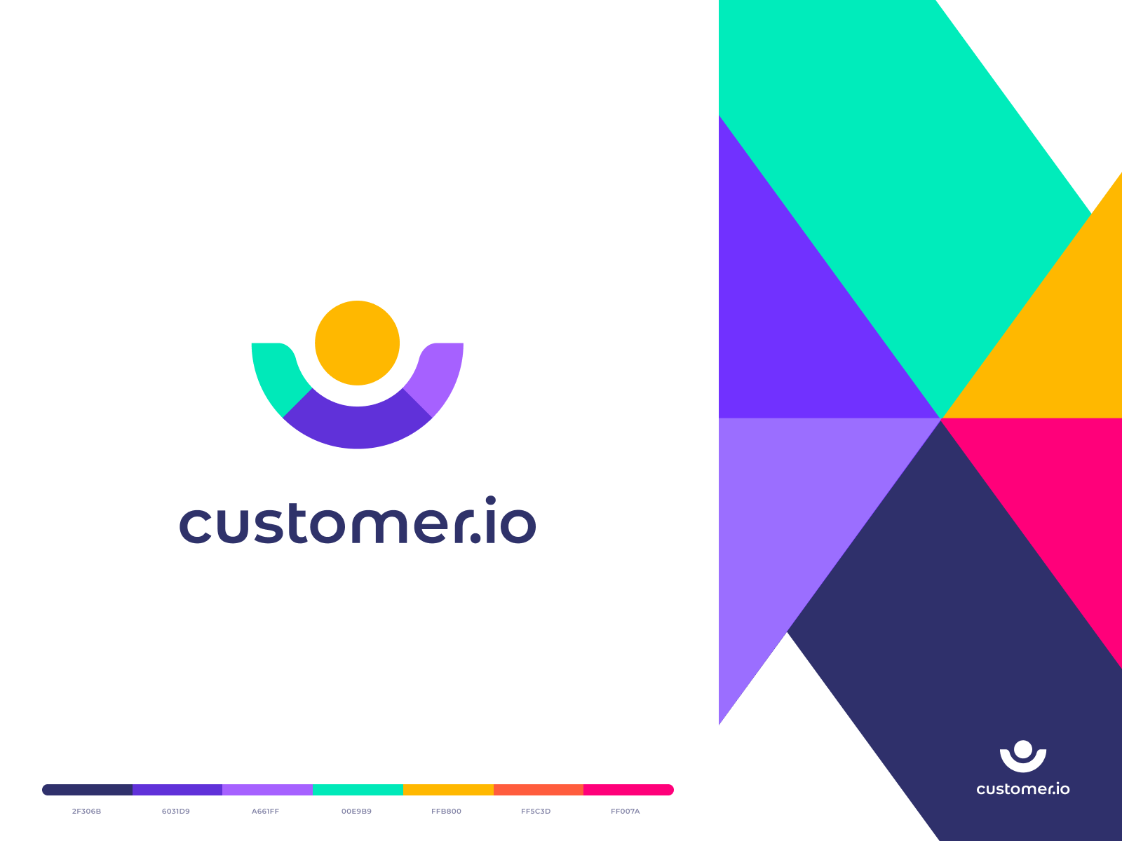 Colorful minimal logo