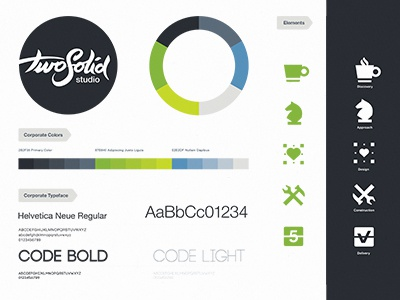 TwoSolid Identity brand identity corporate colors typeface logotype brush handwritten branding logo mark website
