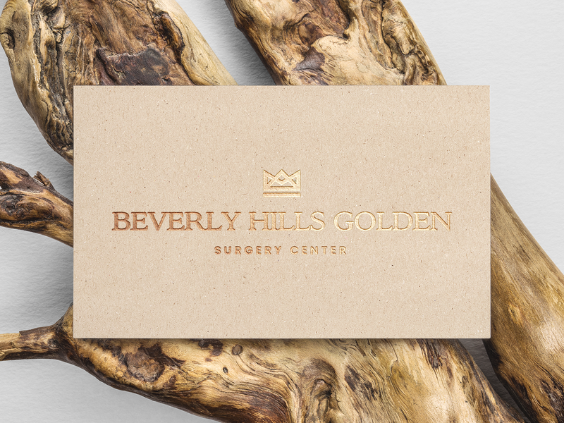 Beverly Hills Golden gold crown company branding mark design identity icon logo