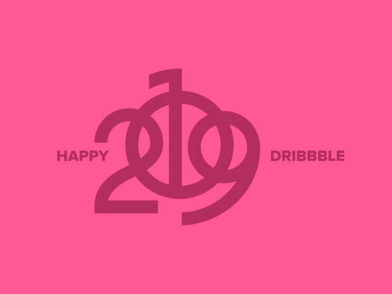 Happy 2019! 🎉 celebrate 2018 holidays dribbble year new happy 2019 branding