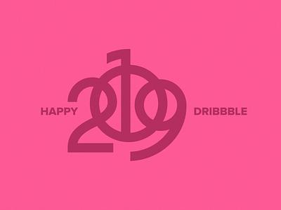 Happy 2019! 🎉 celebrate 2018 holidays dribbble year new happy 2019 branding