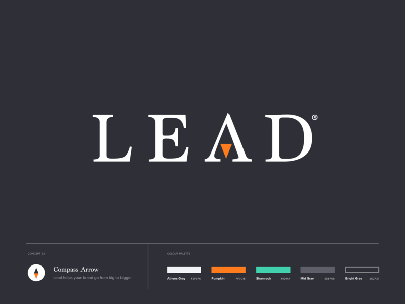Lead.com lead navigation compass logotype design ios branding identity logo icon