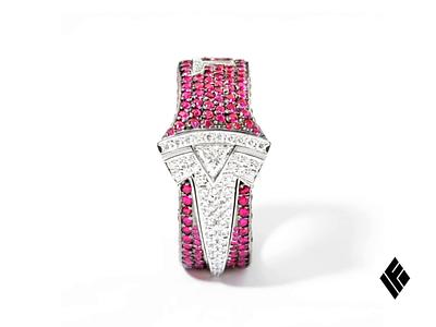 Gift for Elon Musk musk elon logo model tesla pendant gold diamond ring jewelry