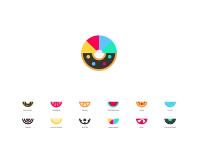 unfold - loader loaders unfold flip doughnut watermelon loader website identity branding illustration logo icon