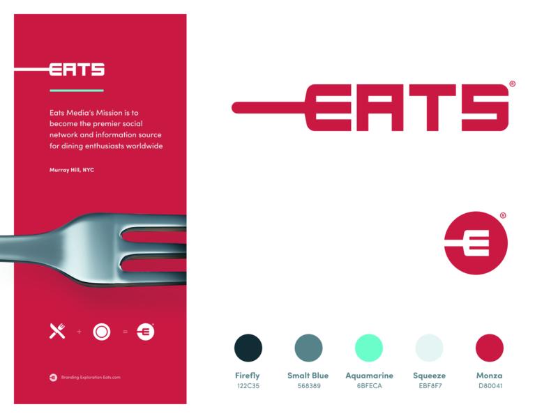 Eats - Branding Exploration food eat fork website app identity branding illustration logo icon