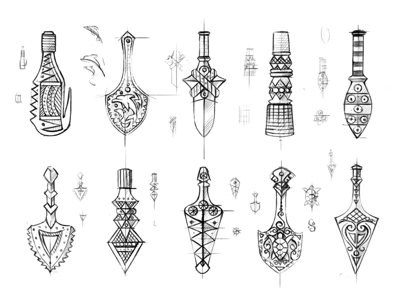 Hawaiian Jewelry product symbols illustration drawing sketches pendants tools hawaii jewelry