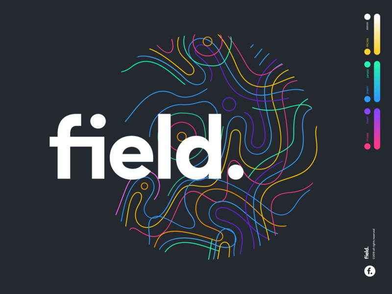 field. type mark sketch website app identity branding illustration logo icon