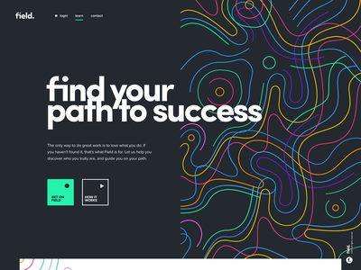 field. drawing website app identity branding illustration logo