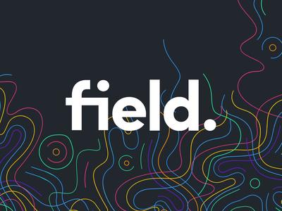 field. reveal vector landing drawing website app identity branding icon illustration logo