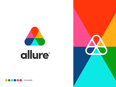 allure typography vector design website app identity branding illustration logo icon