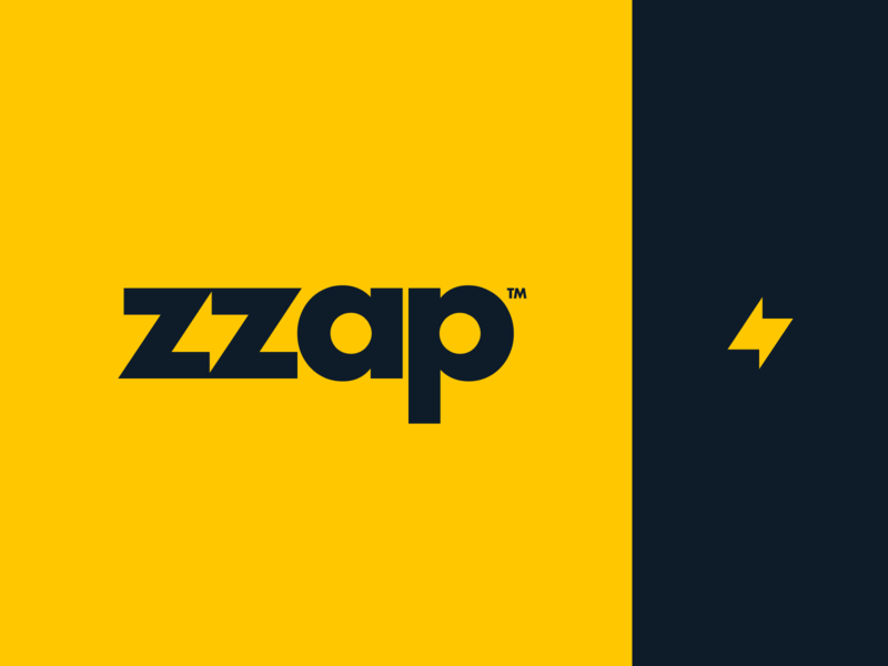 zzap brand logo bolt zap vector mark app identity branding illustration