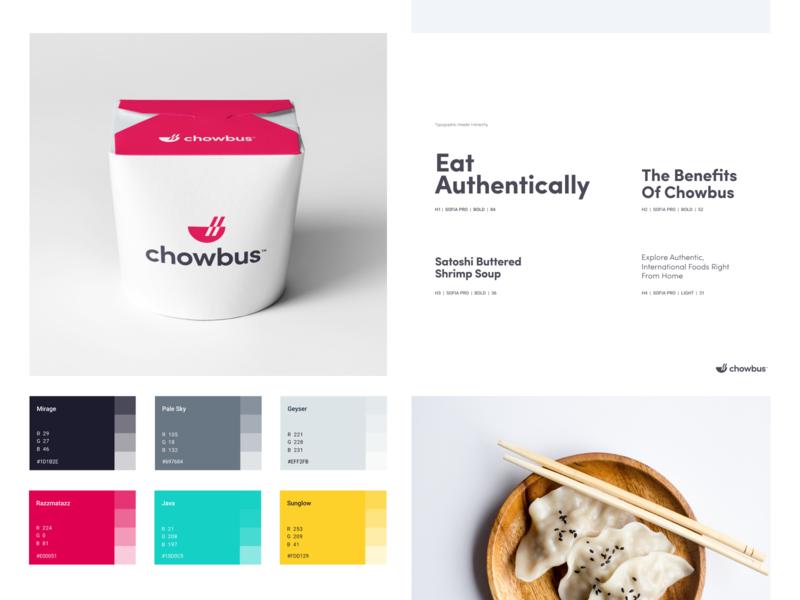 Chowbus - Branding logo palette chowbus illustration design identity branding